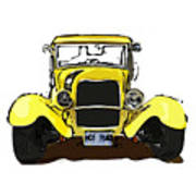 Early 1930s Ford Yellow Art Print