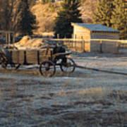 Early Farm Wagon Art Print