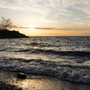 Early Lakeside - Waves Sand And Sunshine Art Print