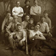 Early Monterey Baseball Team Circa 1895 Art Print