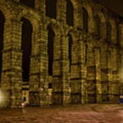 Early Morning At The Aqueduct Of Segovia Art Print