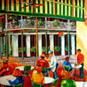 Early Morning At The Cafe Du Monde Art Print