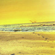 Early Morning Beach Walk Art Print
