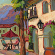 Early Morning Coffee At Old Town La Quinta Art Print