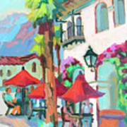 Early Morning Coffee In Old Town La Quinta 2 Art Print