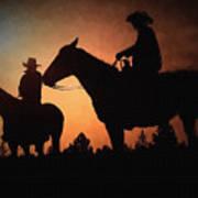 Early Morning Cowboys Art Print