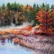 Early Morning Fog  Art Print by Nita Leger Casey