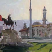 Early Morning In Tirana Art Print