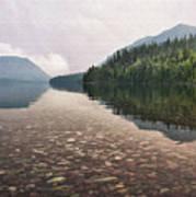 Early Morning On Lake Mcdonald II Art Print