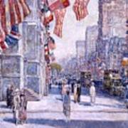 Early Morning On The Avenue In May 1917 - 1917 Art Print