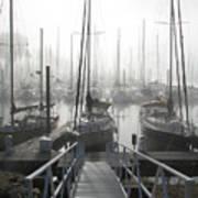 Early Morning On The Docks Art Print