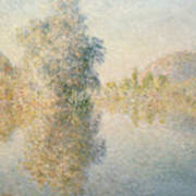 Early Morning On The Seine At Giverny Art Print