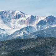 Early Morning Snow On Pikes Peak Art Print