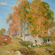 Early October Art Print by Willard Leroy Metcalf