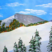 Early Sierra Snow At Ridgeline Art Print