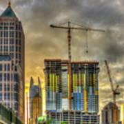 Early Start Skyscraper Construction Atlanta Georgia Art Art Print