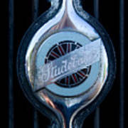 Early Studebaker Grill Emblem Art Print