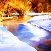Early Wyoming Snow Art Print
