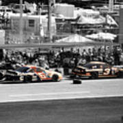 Earnhardt And Martin In The Pits Art Print
