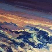 Earth Light Series Lights On  Art Print