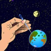 Earth Like An Inflatable Balloon Art Print