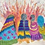 Earth Mothers - Feeding  The Fire Art Print