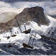 Earthquake And Tidal Wave Art Print