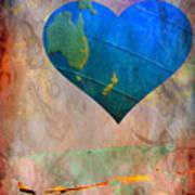 Earthy Heart Art Print