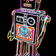Easel Back Robot Art Print