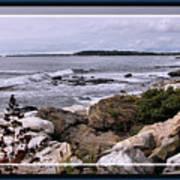 East Boothbay, Maine Ocean View, Framed Art Print