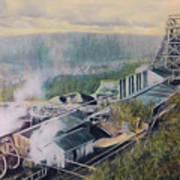 East Brookside Mine Shaft Art Print