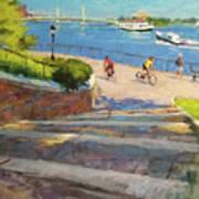 East River From Carl Schurz Park Art Print