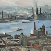 East River From Shelton Hotel Art Print