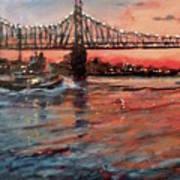 East River Tugboats Art Print