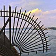 East River View Through The Spokes Art Print