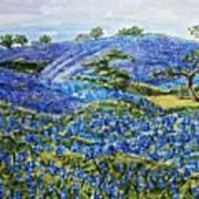 East Texas Bluebonnet Sampler Art Print