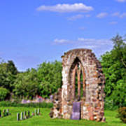 East Window Remains Of Old Church At Ticknall Art Print