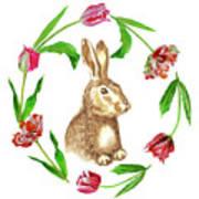 Easter Background Art Print