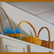 Easter Baskets Art Print