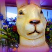 Easter Bunny Bouquet Art Print