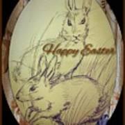 Easter Bunny  Greeting 5 Art Print
