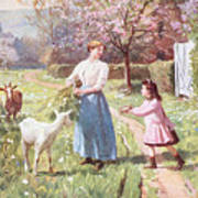 Easter Eggs In The Country Print by Victor Gabriel Gilbert