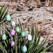 Easter Eggs On The Tree Art Print