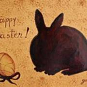Easter Golden Egg And Chocolate Bunny Art Print