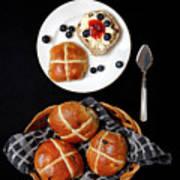 Easter Hot Cross Buns  Art Print