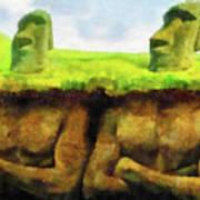 Easter Island Truth Art Print