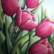 Easter Tulips Art Print