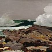 Eastern Point Print by Winslow Homer