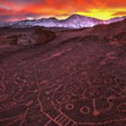 Eastern Sierra Petrolpyh Sunset Art Print