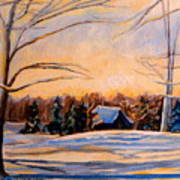 Eastern Townships In Winter Art Print